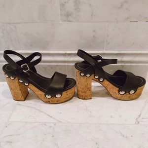 Prada Cork Wedges